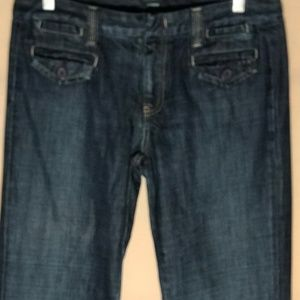 J Crew Women Jean Dark Wash Pockets Size 31 Tall